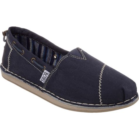 s bobs by skechers chill 33673 navy canvas loafers
