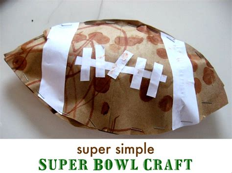 How Do You Make Paper Footballs - 12 best images about bowl crafts on