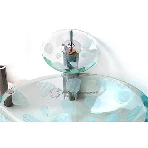 decorative glass vessels decorative round shaped transparent glass sink vessels