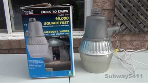 mercury vapor l fixture regent nh 1204m 175 mercury vapor security light old