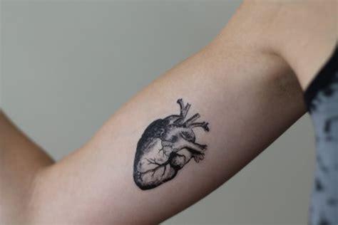 anatomical heart temporary tattoo