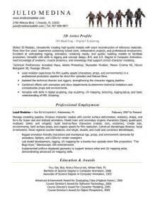 Computer Animator Sle Resume 1000 images about computer animation resume sles on