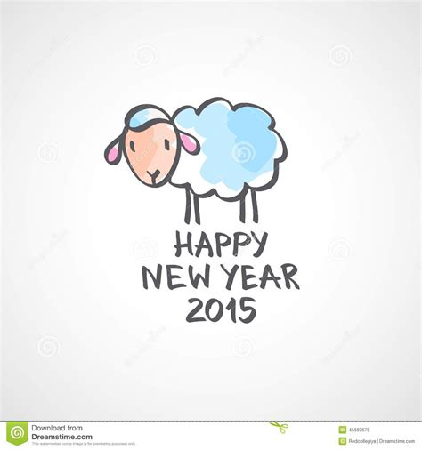 picture of new year sheep vector sheep stock vector image 45693678