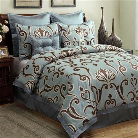 largo 8 pc comforter set kohl s brown turquoise
