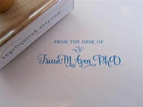from the desk of from the desk of custom calligraphy wooden st your