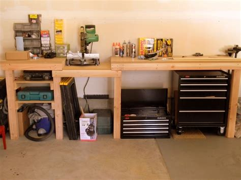 garage bench storage best garage workbench plans the better garages the