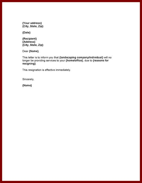 resignation letter how to write a resignation letter effective immediately