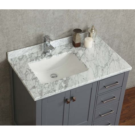 charcoal grey bathroom vanity buy vincent 36 inch solid wood single bathroom vanity in