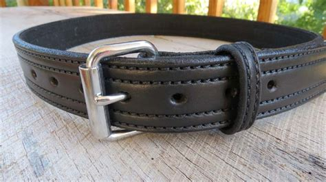 heavy single ply leather belts in black or brown made in usa