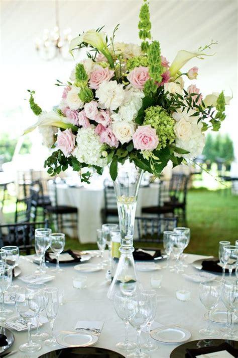Wedding Bell Hydrangea by Centerpiece With Hydrangeas White Green Pink