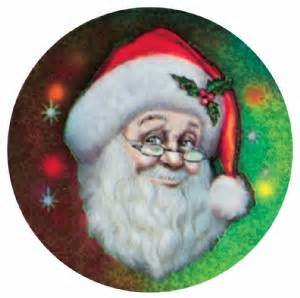 holographic santa claus santa claus 2 quot holographic insert holographic color inserts from trophykits