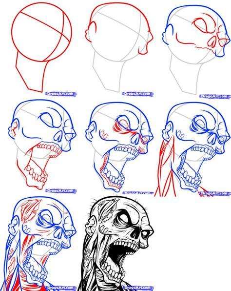 easy zombie tattoo how to draw a zombie tattoo