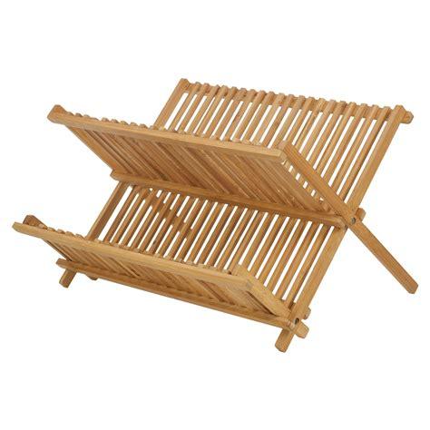 folding sink drainer rack bamboo draining rack dish drainer plate wooden folding