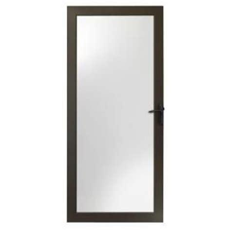 Andersen 4000 Door by Andersen 4000 Series 36 In Bronze View Door Insulated Glass With Rubbed Bronze