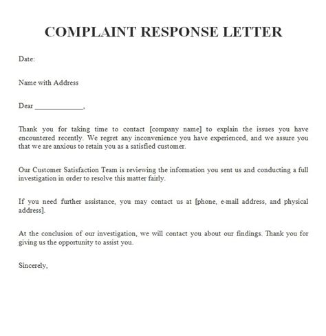 Dissatisfied Customer Complaint Letter How To Write A Response Letter To A Dissatisfied Customer Responding To Customer Complaint