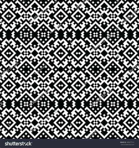 pattern based pixel art lace black white vector stock vector 349677512
