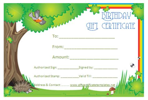 blank birthday gift certificate template blank gift certificate template gift certificate templates