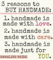 Why Buy Handmade - handmade cross stitch quotes and of on