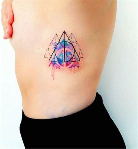 watercolor tattoo abstract geometric watercolor tattoo