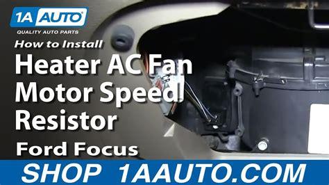 install fix heater ac fan motor speed resistor