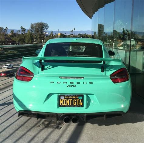 porsche mint green mint green porsche cayman gt4 looks like a flawless gem in
