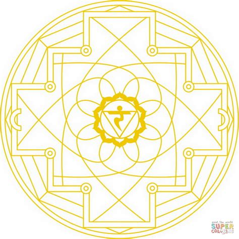 chakra mandala coloring pages manipura chakra mandala coloring page free printable
