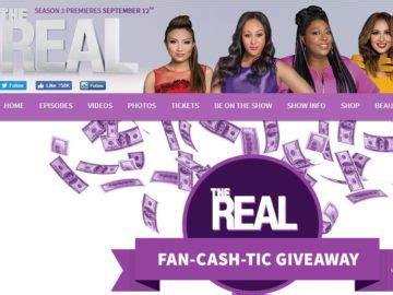 The Real Giveaways - the real fan cash tic giveaway contest