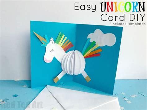 printable animal pop up cards 3d unicorn card diy je promets licorne magique et licornes
