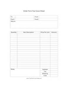 order form fax cover sheet at freefaxcoversheets net