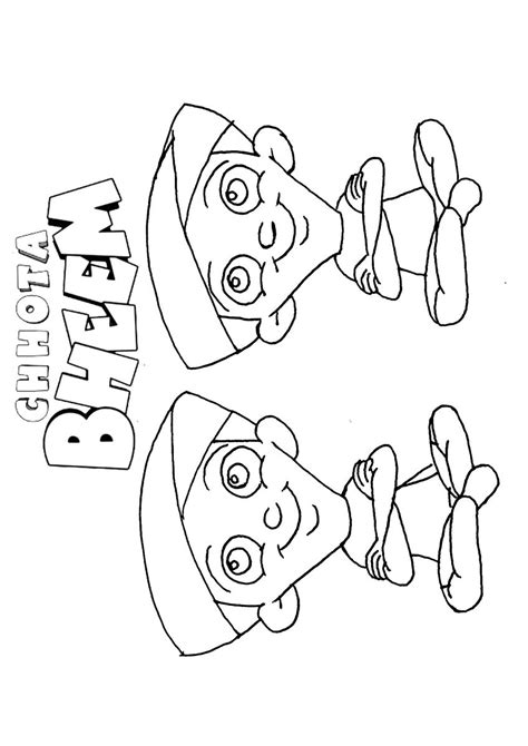 chhota bheem coloring pages games free coloring pages of chota bheem aur krishna
