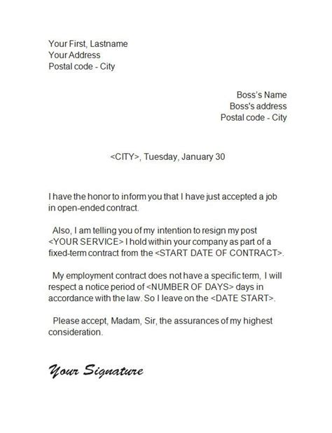 Resignation Letter Less Than A Year Resignation Letter 5 Resignation Letter Letter Of Resignation And Letters