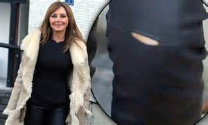carol vorderman suffers small wardrobe malfunction
