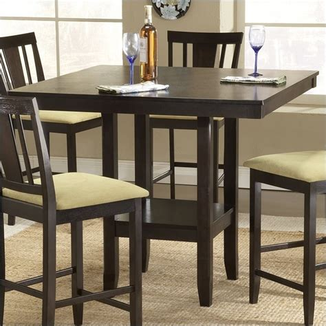 square counter height dining table hillsdale arcadia square counter height casual espresso