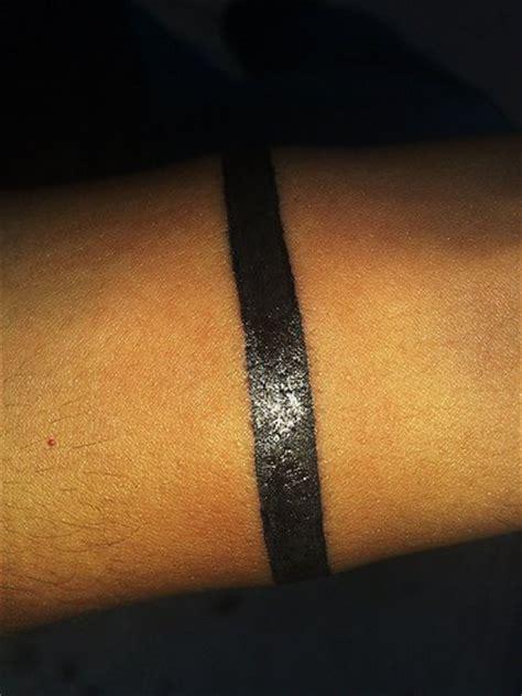 stripe tattoo on arm meaning black work stripe arm band tattoo tattooimages biz