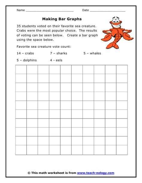 bar graph worksheets 2nd grade making bar graphs
