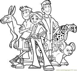 the wild coloring pages wild kratts team coloring page free wild kratts coloring