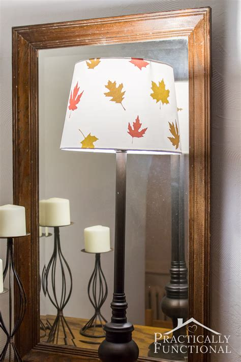 decoupage light shade decoupage fall leaves lshade