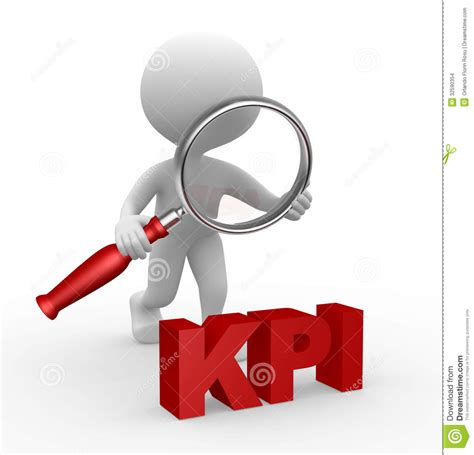 kpi stock illustration image of management character