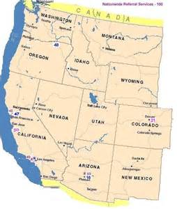map of west coast usa and canada