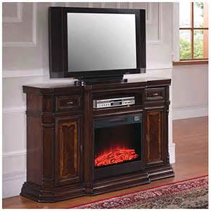 60 quot console walnut electric fireplace big lots