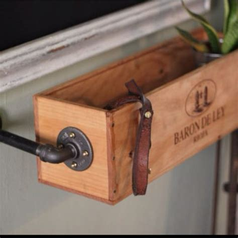 Wine Box Planter Diy by Hanging Wine Box Re Used As A Window Sill Herb Garden Quot 5