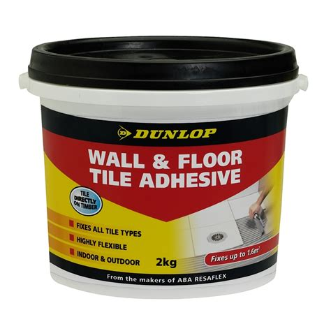 dunlop 2kg wall and floor tile adhesive bunnings warehouse
