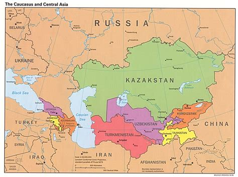 map of central asia asia map map pictures