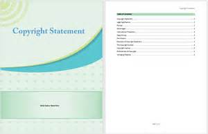 copyright statement template microsoft word templates