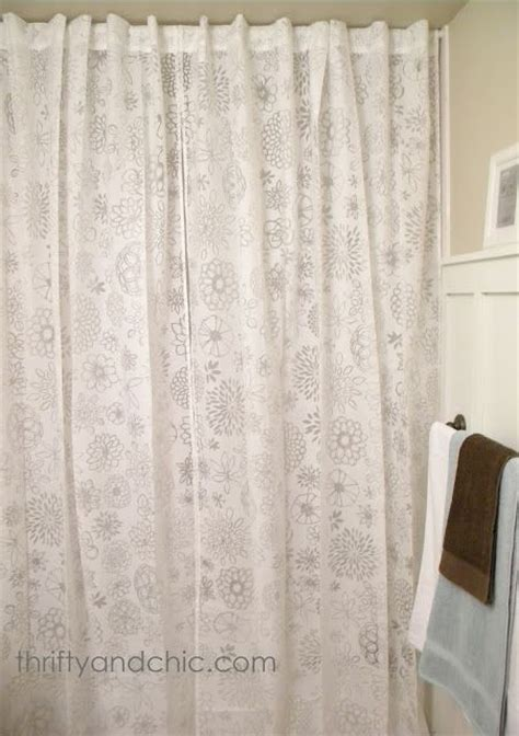 regular curtains as shower curtains use regular curtains for shower curtain hang all the way