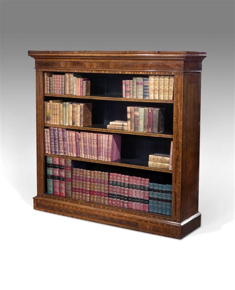 large antique open bookcase inlaid bookcase marquetry