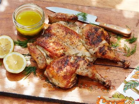 grilled spatchcocked chicken recipe food network
