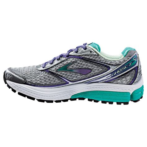 wide womens running shoes ghost 7 road running shoes silver purple green d width