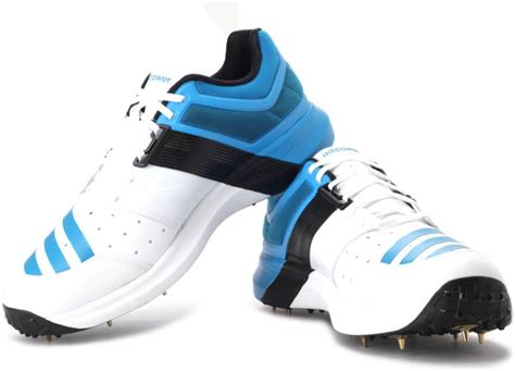 adidas adipower vector cricket shoes buy white blue color adidas adipower vector cricket