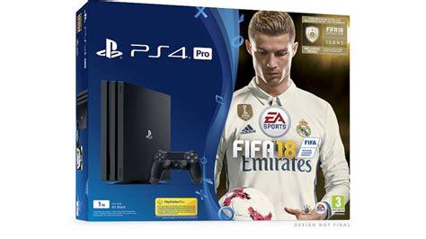 Ps 4 Fifa 18 Edition Bundle Fifa 18 Annunciati I Bundle Con Playstation 4 E Ps4 Pro